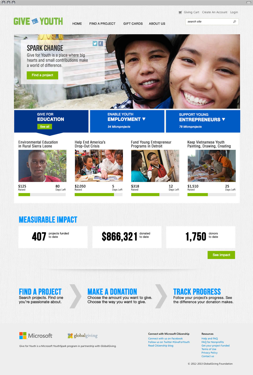 give-for-youth-home-page